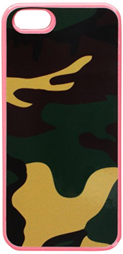 Graphics and More Camouflage Army Soldier Snap-On Hard Protective Case for iPhone 5/5s - Non-Retail Packaging - Pink