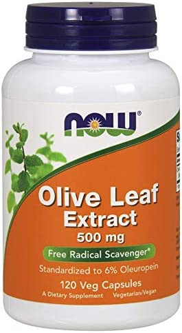Now Foods, Olive Leaf Extract, 500 mg, 120 Veg Capsules