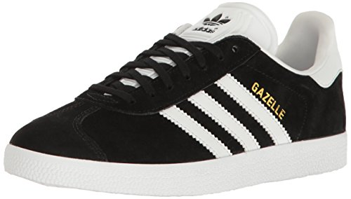 (adidas Originals Women's Shoes | Gazelle Sneakers, Black/White/Metallic Gold, (11 M)