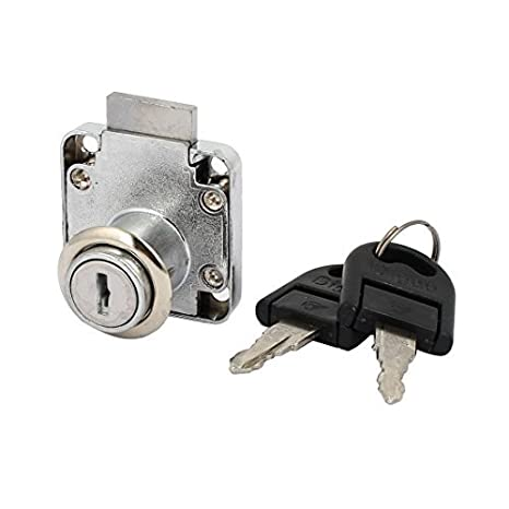 DealMux Gabinete Armario Buzón 19mmx22mm Cilindro de seguridad metálica tubular cerradura del cajón