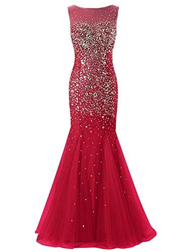 Fanciest -  Vestito  - linea ad a - Donna rosso scuro 44