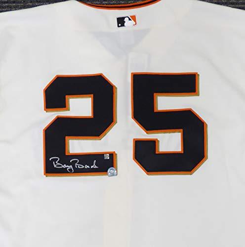 San Francisco Giants Barry Bonds Autographed Authentic Cream Majestic Jersey Size 48 MLB Holo #MT00562080