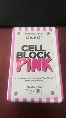 Block Pink Dark Berry Blend Chunk Big Bath Bar (Big Block A Body)