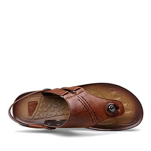Sandali Caviglia Cinturino Mare Vacanze con Classico Infradito alla Marrone Estate Uomo d0x7wz