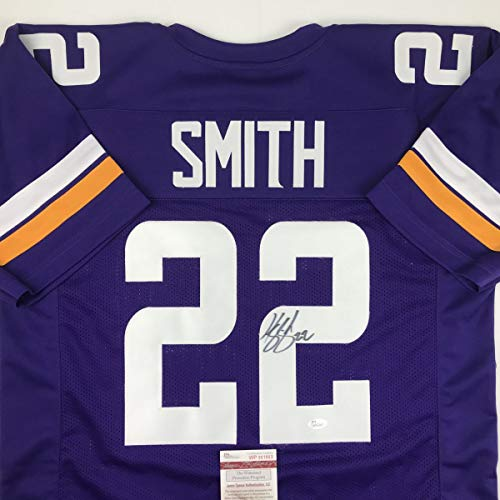 Autographed/Signed Harrison Smith Minnesota Purple Football Jersey JSA COA