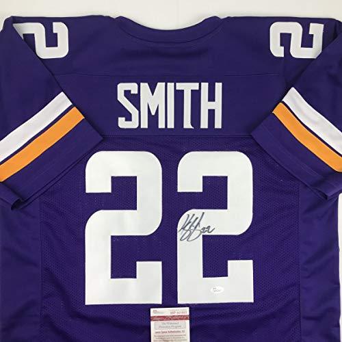 Autographed/Signed Harrison Smith Minnesota Purple Football Jersey JSA COA ()