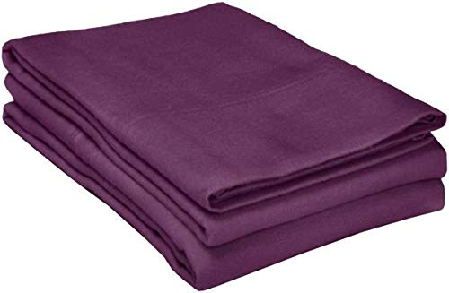 - Addy Home 100% Egyptian Cotton Pillowcases Liquidation Sale - 400 TC Egyptian Quality Set of 2 Pillow Cases - Silky Soft 2pc Pillow Cover Purple Solid, King (20X40)