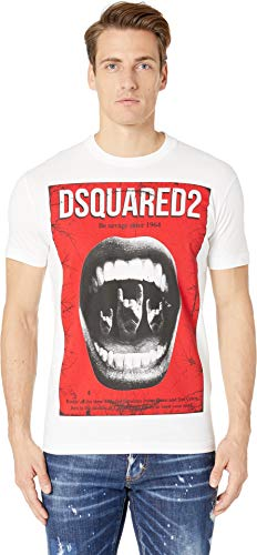 DSQUARED2 Men's Be Savage Cool Fit T-Shirt White X-Large