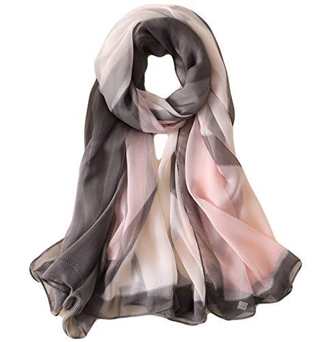 Beskie Silk Feeling Scarf Gradient Scarves Cape Wrap Headscarf Sunscreen Shawls for Women