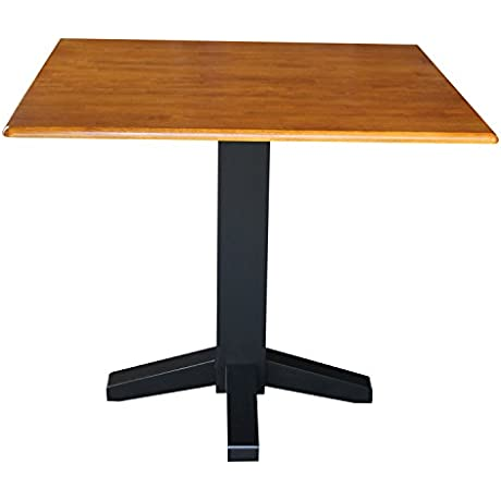 International Concepts Square Dual Drop Leaf Dining Table 36 Inch Black Cherry