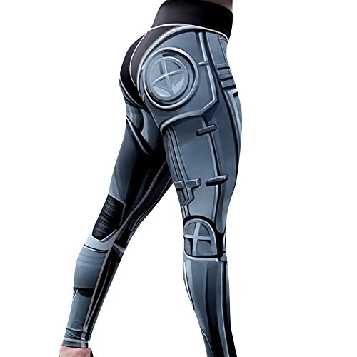 - Kanzd Yoga Pants, Women's Fashion Workout Leggings Fitness Sports Gym Running Yoga Athletic Pants (Gray, S)