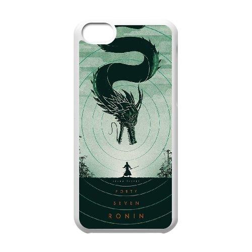 S5V55 Ronin Moulage cas de téléphone R7E7WH coque iPhone 5c cellulaire couvercle coque blanche WX0PKW3JY