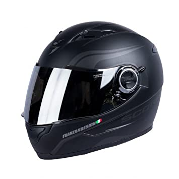 Scorpion Casco Moto exo-490 luz, Matt black/silver, l: Amazon.es: Coche y moto