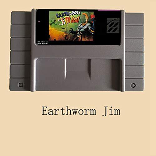 - Earthworm Jim English Language 16 bit Big Gray Game Card For NTSC/PAL Game Player PAL JAP Shell