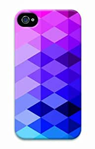 Hot Diy For Ipod 2/3/4 Case Cover 3D Diy Unique Print Rainbow Checkered Purple New Fashion Diy For Ipod 2/3/4 Case Cover s