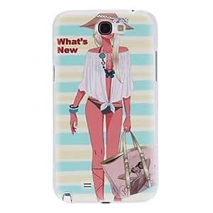 ZCL-Bikini Girl Caso duro del patrón para Samsung Galaxy Note N7100 2