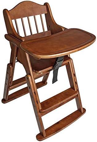 Safetots Putaway Folding Wooden High Chair Blue