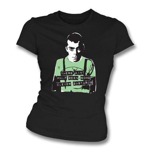 TshirtGrill Ian Dury - dünnes T-Shirt der Sitz des klugen bastard-Mädchens, Farbe- Schwarzes