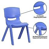 Flash Furniture 5 Pack Blue Plastic Stackable