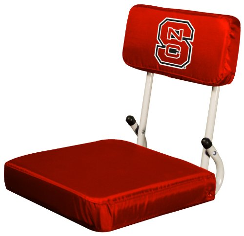 Logo Brands NCAA North Carolina State Wolfpack Hard Back Stadium Seat Carolina Stadium Seat