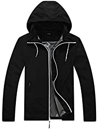 Men's Lightweight Packable Windproof Hooded Jacket Quick Dry Windbreaker