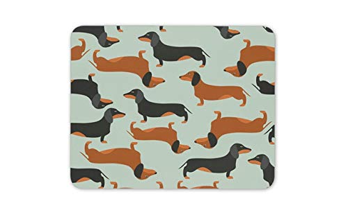 Dachshund Cute Dog Pattern Mouse Pad - Animal Lover Mousepad Mouse Mat Gift Computer -14369