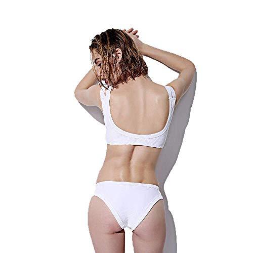Magro Bagno Dimensione Bikini Donna Nero colore Small Petto Costume Qiusa Da Termale Bianca Sexy Spiaggia Piccolo SEOn4Xq4