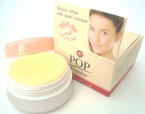 6 Pcs/ Thai POP Popular Whitening Pearl Cream for Acne/ Dark Spot/ Melasma 4g.