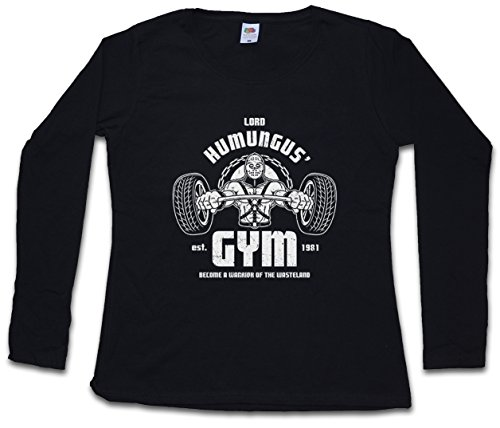 LORD HUMUNGUS GYM DAMEN GIRLIE LANGARM T-SHIRT - Mad Fury 1981 Main Force Patrol Road Max Größen XS – 2XL