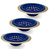 COOK with COLOR Set of 3 Sink Strainers, Flexible