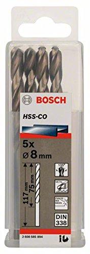 Bosch Professional Metallbohrer HSS-Cobalt (5 Stück, Ø 8 mm) 2608585894