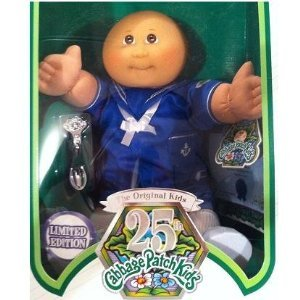 Bald cabbage patch doll bald.