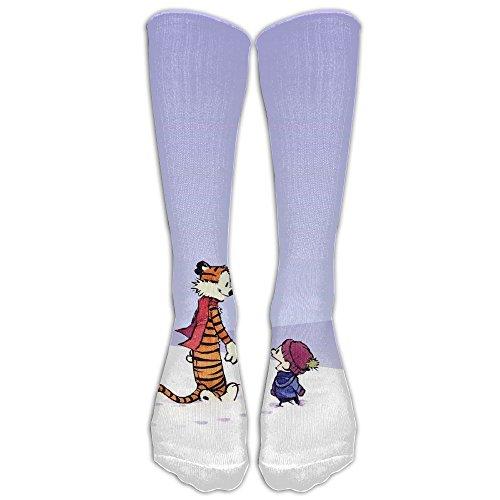 Hobbes Costumes (Calvin And Hobbes Long Socks Knee Soccer Socks For Men And Women - Running & Fitness - Best Medical, Nursing, Travel & Flight Socks)
