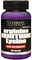 Ultimate Nutrition Arginine Ornithine Lysine Capsules, 100-Count