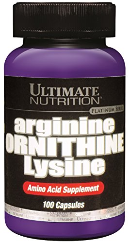 Ultimate Nutrition Arginine Ornithine Lysine Capsules, 100-Count