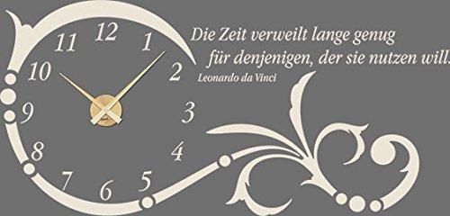 GRAZDesign Wanduhr groß Aufkleber Ornament mit mit mit Spruch - Wandtattoo Uhr mit Uhrwerk Die Zeit verweilt Lange genug - Uhren Wand Tattoo mit großen Zahlen   119x57cm   800331_GD_080 B07CQSGHJ1 Wandtattoos & Wandbilder 9b4b01