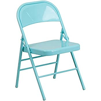 leisure series colorful all metal folding chair indoor outdoor easy clean lb weight capacity teal buy used chairs back covers for rent