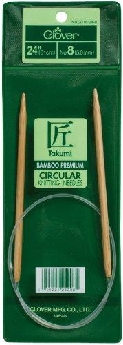 Clover 3016/24-05 Takumi Bamboo Circular 24-Inch Knitting Needles, Size 5