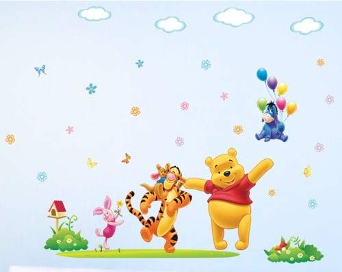 (GoBuyMall Peel and Stick Wall Decals Stickers for Children & Kids & Baby & Nursery Wall Art Room Decor (Winnie The Pooh))