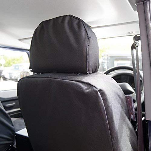 Black UK Custom Covers SC142B Tailored Heavy Duty Waterproof Front Seat Covers