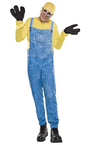 [Rubie's Costume Co Men's Minion Bob Costume, Multi, Standard] (Adult Minions Costumes)