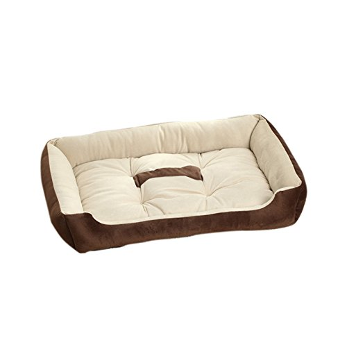 Brown 90x70x15cm Brown 90x70x15cm Befaith Large Warm Soft Fleece Pet Dog Kennel Cat Puppy Bed Mat Pad House Cushion Brown 90x70x15cm
