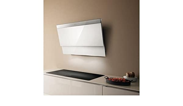 Elica MOVIDA WH/F/80 730 m³/h De pared Acero inoxidable, Blanco - Campana (730 m³/h, Recirculación, 44 dB, 67 dB, 40 cm, 65 cm): Amazon.es: Hogar