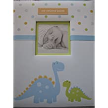 Pearhead L'il Peach Baby Record Book Boy Blue Dinosaur Scrapbook Photo Album by Pearhead