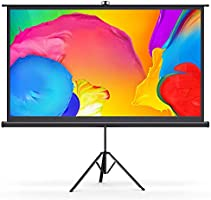 "Bomaker Projector Screen with Stand, 4K Ultra HD 100"" 16:9 Wrinkle-Free Projector Screen, 1.1 Gain 160° Viewing Angle,..."