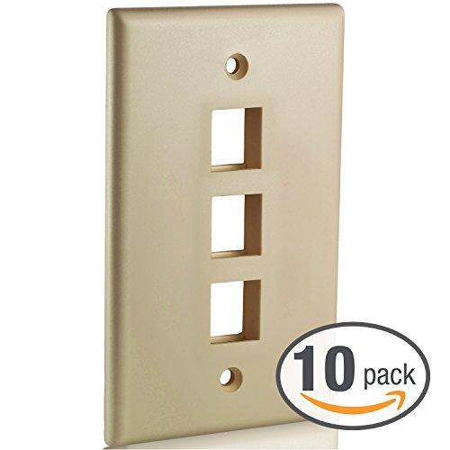 Mediabridge Keystone Wall Plate (3-Port) - 10 Pack - ()