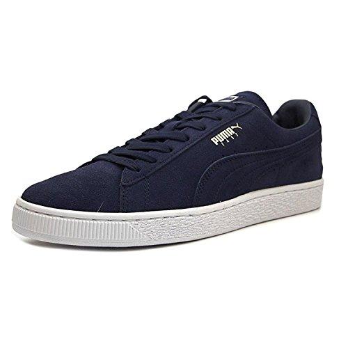 Puma Mens Classic East West Suede Ankle-High Fashion Sneaker, Blanco (peacoat/white), 40.5 D(M) EU/7 D(M) UK