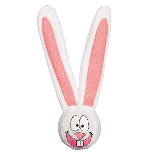 Fun Express - Plush Bunny Bouncing Ball for Easter - Toys - Plush - Stuffed Non Animal - Easter - 12 Pieces