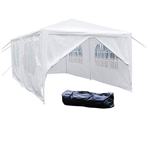 VINGLI 10' x 20' Outdoor Gazebo Canopy Party Wedding BBQ Pavilion Canopy Catering Events Tent with 6 Removable Sidewalls