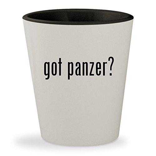 got panzer? - White Outer & Black Inner Ceramic 1.5oz Shot Glass